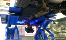 ATOS5を使用した車両床下の3Dスキャン