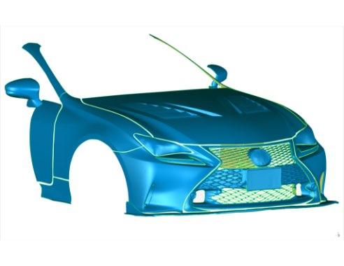 自動車部品の測定